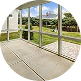 Screened rear porch