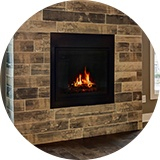 36 in. gas fireplace